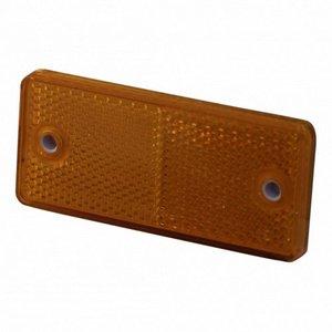 Reflector oranje - 90x40 mm - opschroefbaar + zelfklevend