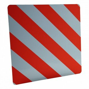 Radex Markeringsbord - lange lading - 500x500 mm - oranje / wit