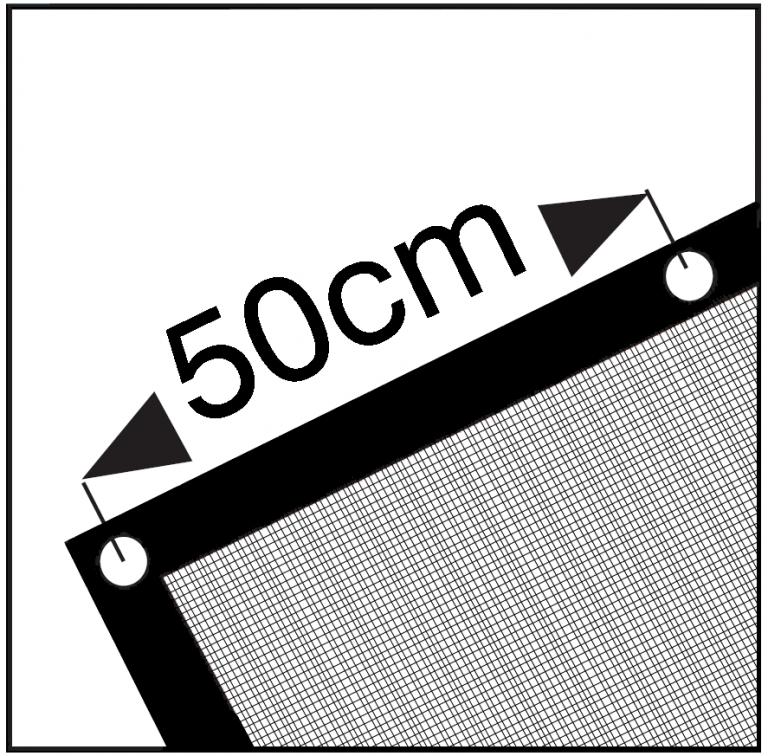 Cover Cover PE Aanhangernet fijnmazig extra - 2.00 x3.00 m - 200 gr/m² - zwart