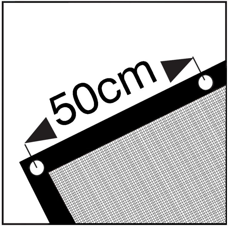 Cover Cover PE Aanhangernet fijnmazig extra - 2.50 x4.00 m - 200 gr/m² - zwart