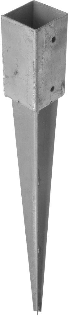 Gebr. Bodegraven GB Paalhouder met punt 145x145x900 mm thermisch verzinkt - 17250145
