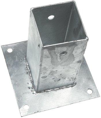 Gebr. Bodegraven GB Paalhouder met plaat 121x121x150 mm thermisch verzinkt - 17252121