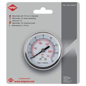 "Airpress Airpress Manometer 1/4"" buitendraad - 4345219 - 3"