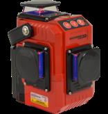 Futech Futech kruislijnlaser Multicross 3D - Li-Ion - rood - 032.03D