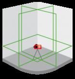 Futech Futech kruislijnlaser Multicross 3D - Li-Ion - groen - 045.03D