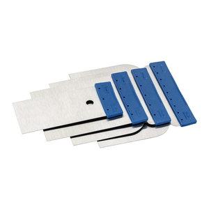 Color Expert Color Expert Plamuurmessen set - 50/80/100/120 mm - staal - 91000599