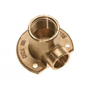 "Bonfix Bonfix 90560 Messing Muurplaat laag - 1/2"" binnen x 15 mm"