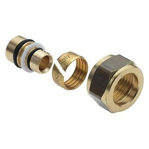 Bonfix Bonfix 23910 Messing knelset - 15 mm naar Ø16x2,0 mm alu pex
