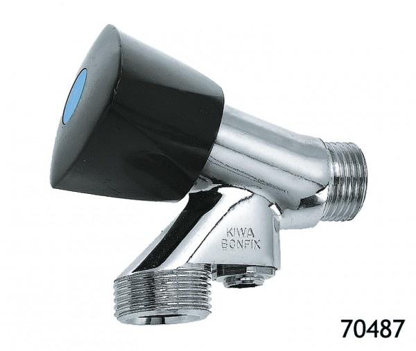 """Bonfix Bonfix 70487 Beluchterkraan met keerklep en knop - 1/2"""" x 3/4"""" - gepolijst verchroomd"""
