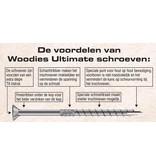 Woodies Woodies Ultimate Blackline Potdekselschroef TX (torx) - RVS 410 - RAL 9005
