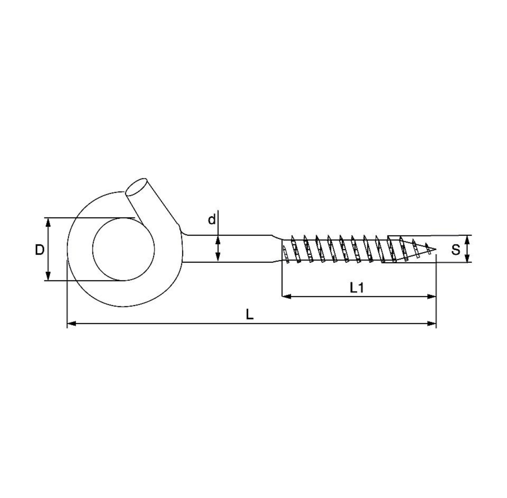 Dulimex Dulimex schommelhaak - bevestigingshaak M10x145 mm - houtdraad - verzinkt - 370-09E