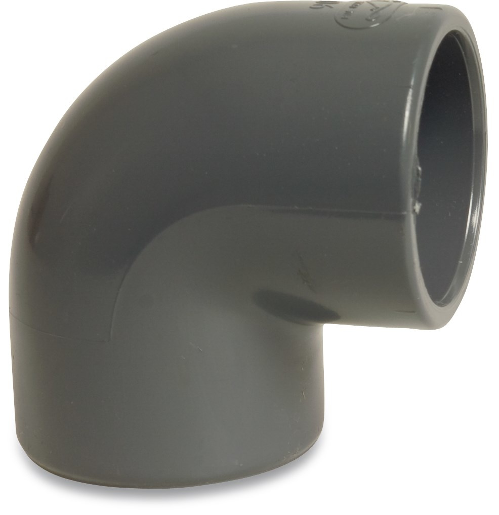 PVC Knie 90° druk Ø20 t/m Ø125 mm - 16 bar