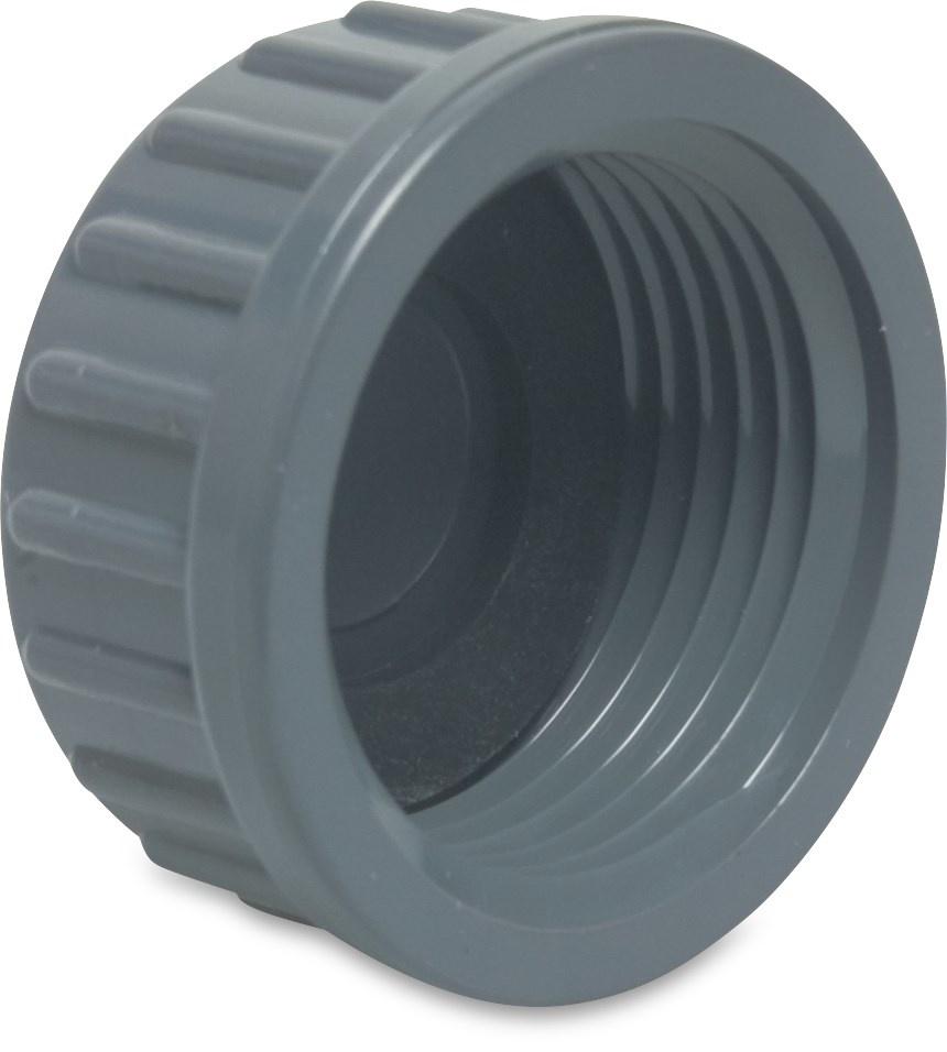 PVC Draadkap + rubberen ring druk - 10 bar