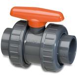 VDL VDL PVC Kogelkraan druk Ø20 t/m Ø110 mm - 2x wartel - 10 - 16 bar