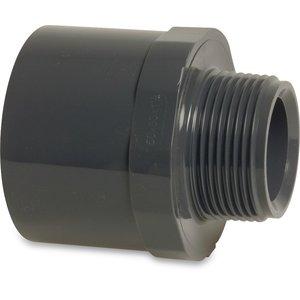 PVC Puntstuk zes-/ achtkant buitendraad druk - 16 bar