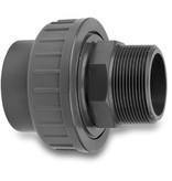 VDL VDL PVC 3-delige koppeling druk - lijm x buitendraad - 16 bar
