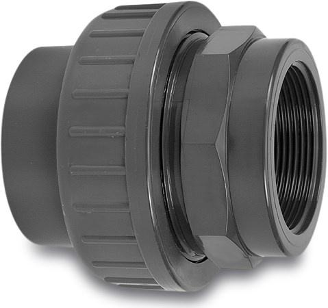 VDL VDL PVC 3-delige koppeling druk - lijm x binnendraad - 16 bar