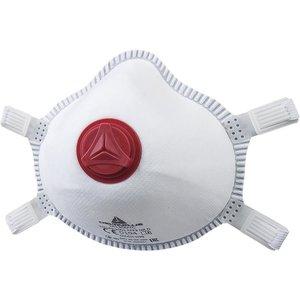 Delta Plus - your safety at work Delta Plus M1300VC Voorgevormd Halfgelaatsmaskers - mondkapjes FFP3S met ventiel - 5 stuks