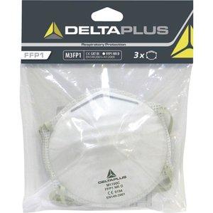 Delta Plus - your safety at work Delta Plus M3FP1 Halfgelaatsmaskers - mondkapjes FFP1 - 3 stuks
