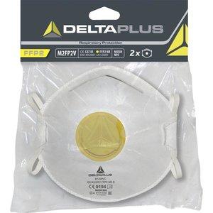 Delta Plus - your safety at work Delta Plus M2FP2 Halfgelaatsmaskers - mondkapjes FFP2 met ventiel - 2 stuks