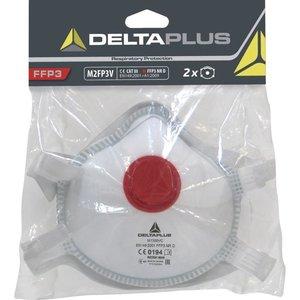 Delta Plus - your safety at work Delta Plus M2FP3V Halfgelaatsmaskers - mondkapjes FFP3 met uitademventiel - 2 stuks