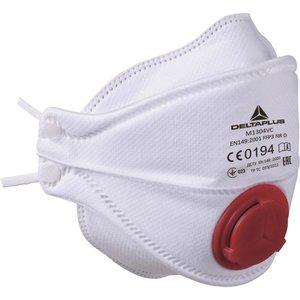 Delta Plus - your safety at work Delta Plus M1304VC Wegwerp Halfgelaatsmaskers - mondkapjes FFP3 met uitademventiel - 10 stuks