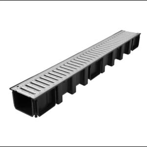 Afvoergoot - lijngoot Connecto 100 met gegalvaniseerd sluifrooster - 0