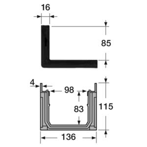 Afvoergoot - lijngoot Connecto 100 met sleufgoot opzetstuk - 1