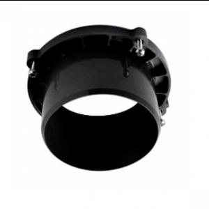 Afvoergoot - lijngoot Uitlaatstuk voor verticale aansluiting - zwart