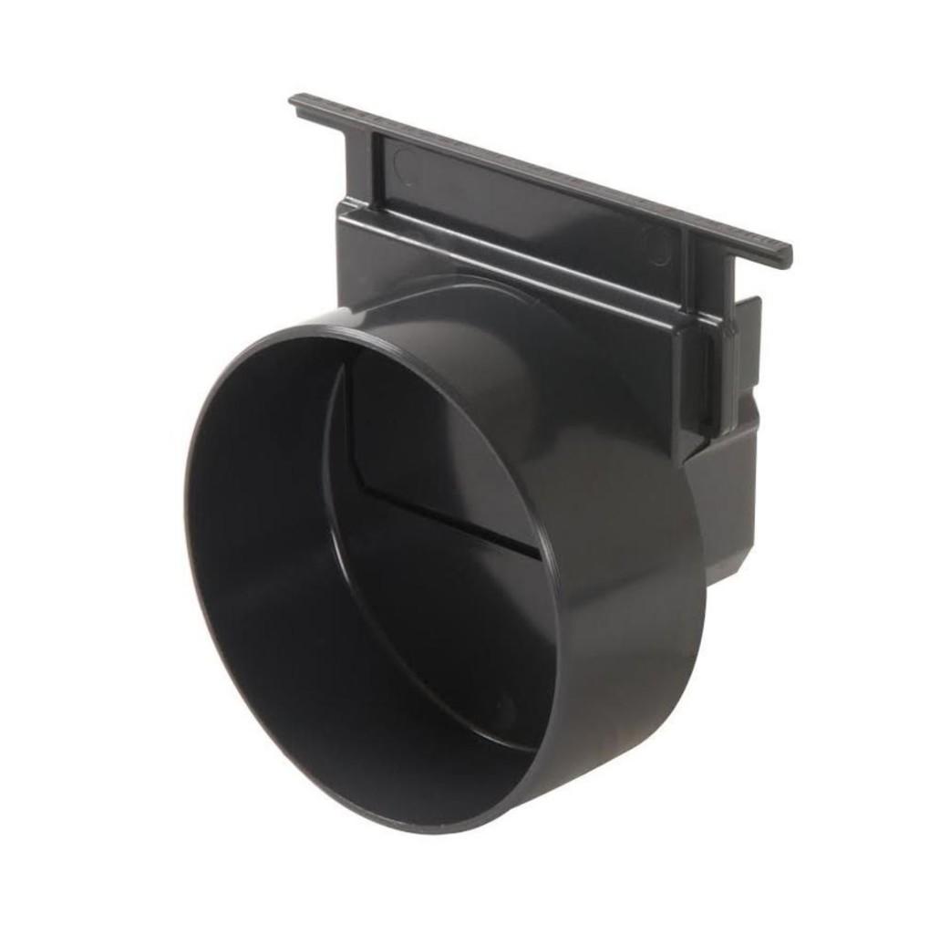 Afvoergoot - lijngoot Eindstuk/ uitlaatstuk naar PVC Ø110 mm - zwart