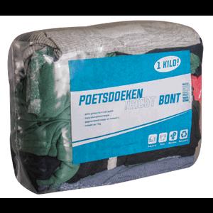 HEVU TOOLS Poetsdoeken tricot bont - 1 kg - katoen