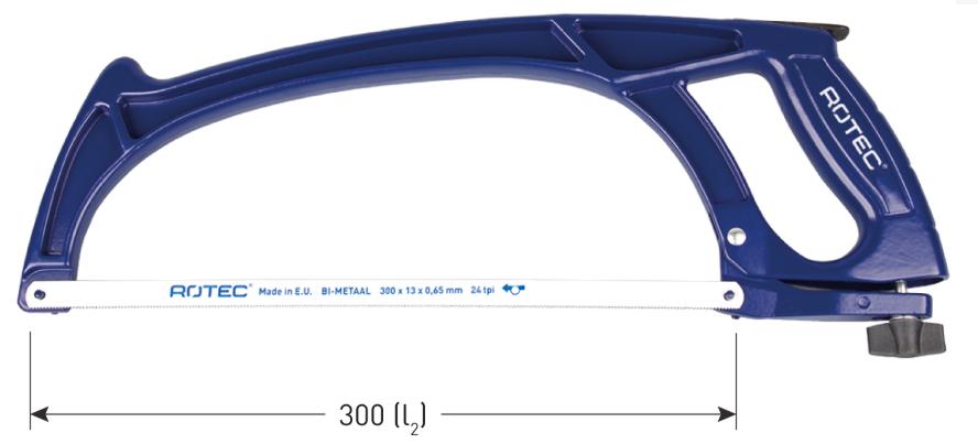 Rotec Rotec Metaalzaagbeugel 300 mm - gebogen - 500.1006
