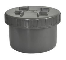 PVC Eindkap met schroefdeksel - Ø40 t/m Ø125 mm
