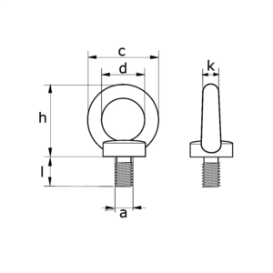 Dulimex Dulimex Ringschroef gelijkend DIN 580 - staal verzinkt - 1
