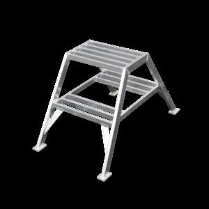 ASC group ASC Stucadoorstrap 2x2 treden - aluminium - 150 kg