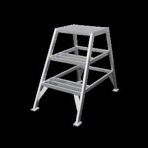 ASC group ASC Stucadoorstrap 1x3 treden - aluminium - 150 kg