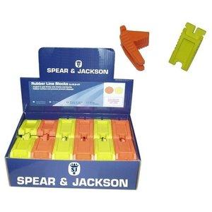 Spear & Jackson Spear & Jackson Metselblokjes - opspanblokjes - set  á 2 stuks - rubber - SJ-RLB-OY