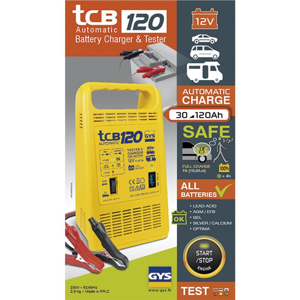 Gys Gys Acculader TCB 120 automatic - 30 - 120 Ah - 12V  - 023284
