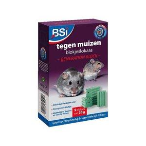 Bsi BSI Generation Block  blokjeslokaas - muizengif 5x20 gram - 64251