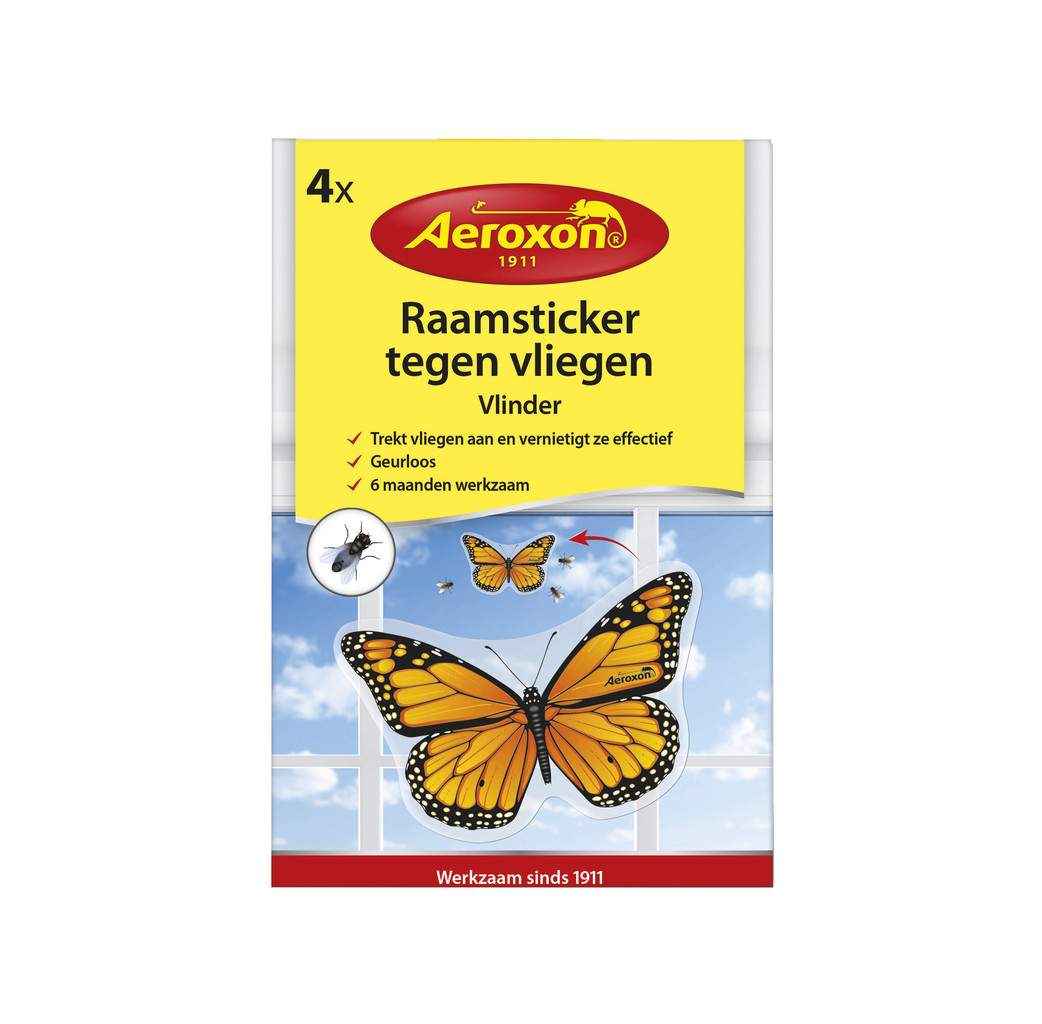 Aeroxon Aeroxon Zelfklevende raamstickers tegen vliegen - 4 stuks