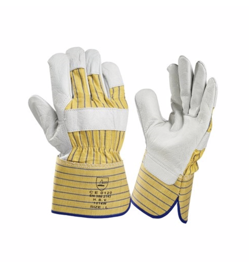 HBV safety gloves HBV 1014W werkhandschoen - rundleer - 10 XL