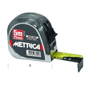 Metrica Metrica rolmaat - ABS verchroomd - nylon gecoate band