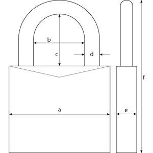 ABUS Abus 165/30 Cijferhangslot - 3 cijfers - 30 mm - 2