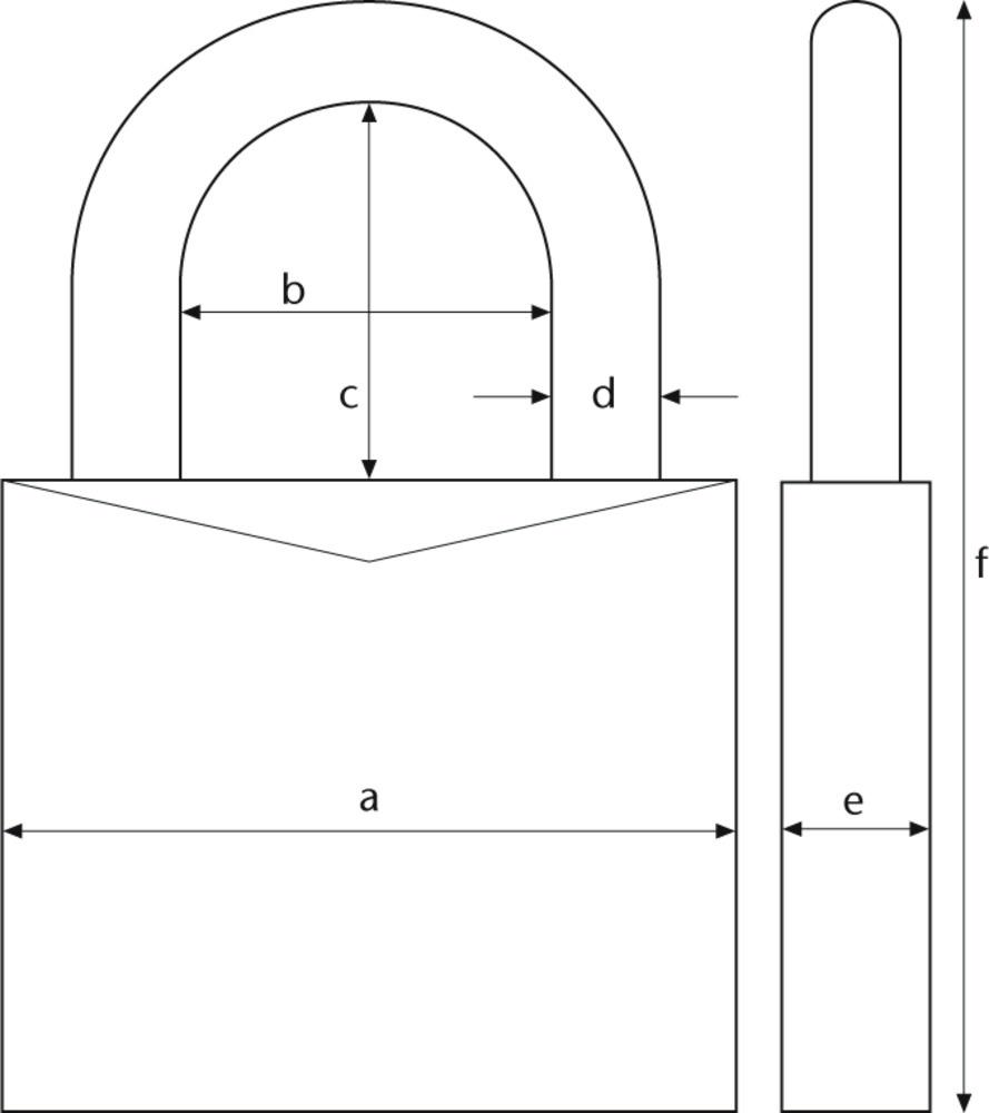 ABUS Abus Cijferhangslot 165 serie - 4 cijfers - 40 mm - 165/40