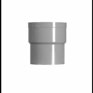 HWA PVC Verbindingsstuk - grijs - 1x mof x 1x spie verjongd