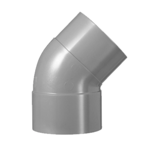 HWA PVC Bocht 45° - grijs - 1x mof x 1x verjongd