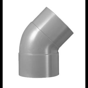 HWA PVC Bocht 45° - grijs - 1x mof x 1x spie