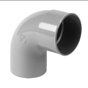 HWA PVC Bocht 90° - grijs - 1x mof x 1x spie