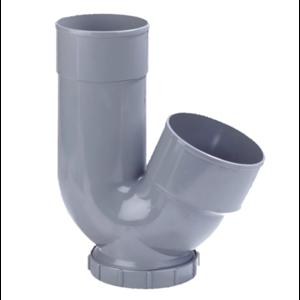 HWA PVC sifon - grijs - 1x mof x 1x spie/mof