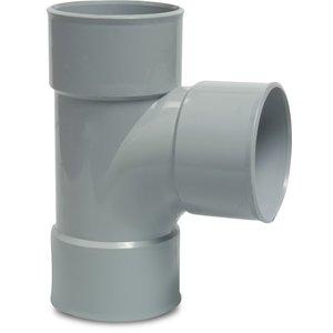 PVC T-stuk 87,5° - Ø40 t/m Ø125 mm - 3x inwendig lijm